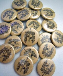 Ancient Sword Buttons old school pins