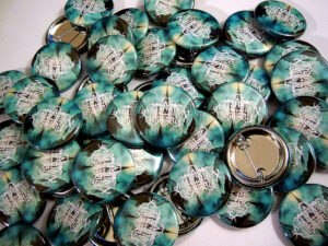 Cascadian Lightfall Buttons old school pins