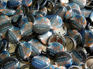 Celestial Wizard Buttons old school pins