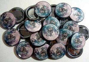 Dragon Moon pinback buttons oldschoolpins.com