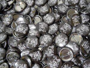 Metal On Metal Radio Buttons old school pins