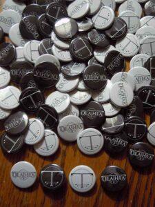 Olathia Buttons old school pins
