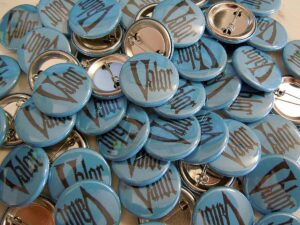 Valor Buttons old school pins