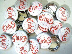 Cerdes Buttons old school pins