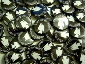 Dark Age Productions Buttons old school pins