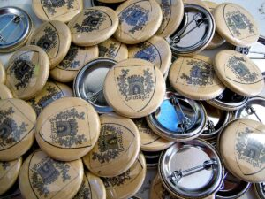 Torchlight Buttons old school pins